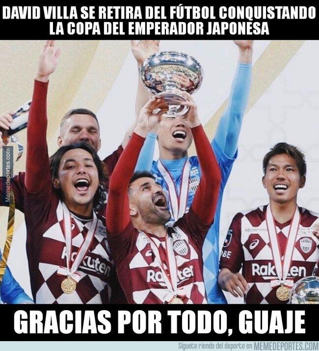 1094877 - Villa se retira del fútbol como campeón