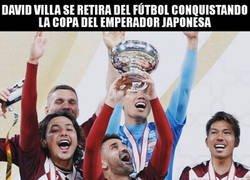 Enlace a Villa se retira del fútbol como campeón