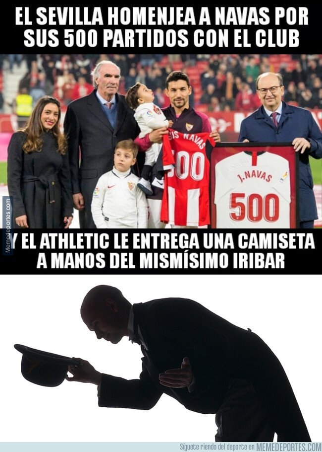 1095031 - Gran detalle del Athletic Club con un histórico de nuestro fútbol como es Jesús Navas