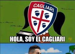 Enlace a Cristiano se ceba con el pobre Cagliari