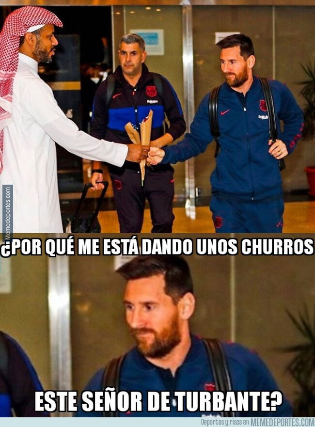 1095238 - Extraña llegada de los jugadores del Barça a Arabia Saudí