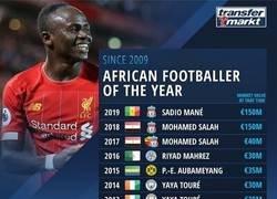 Enlace a El jugador africano del año durante los últimos tiempos