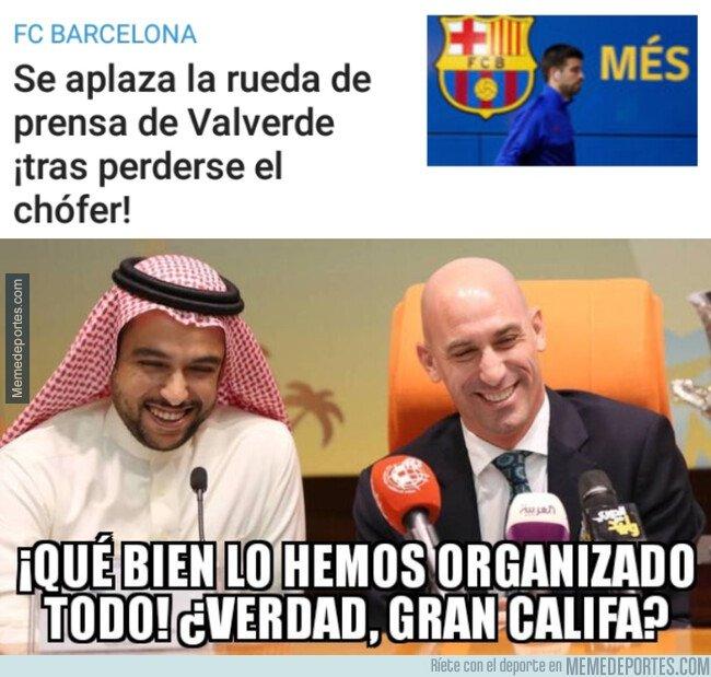 1095265 - La Federación con el dinerito y el pobre Valverde, perdido por la calles de Yeda