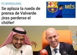 Enlace a La Federación con el dinerito y el pobre Valverde, perdido por la calles de Yeda