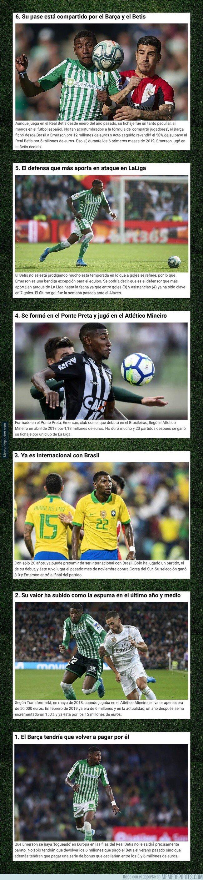 1095331 - 6 cosas que no sabías de Emerson, el futbolista que 'comparten' el Betis y el FC Barcelona