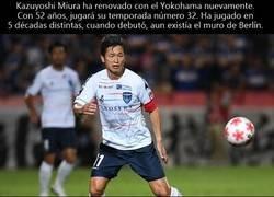 Enlace a Kazuyoshi Miura, el jugador más longevo acaba de renovar contrato