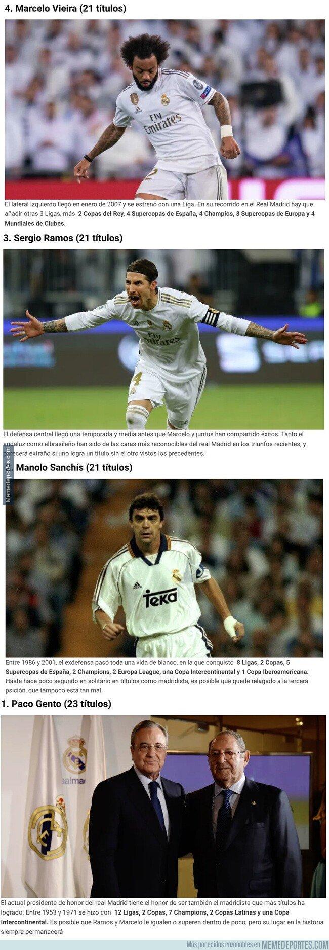 1095744 - Estos son los jugadores que más títulos han ganado en la historia del Real Madrid