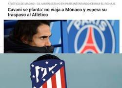 Enlace a Cavani todavía es posible para el Atlético