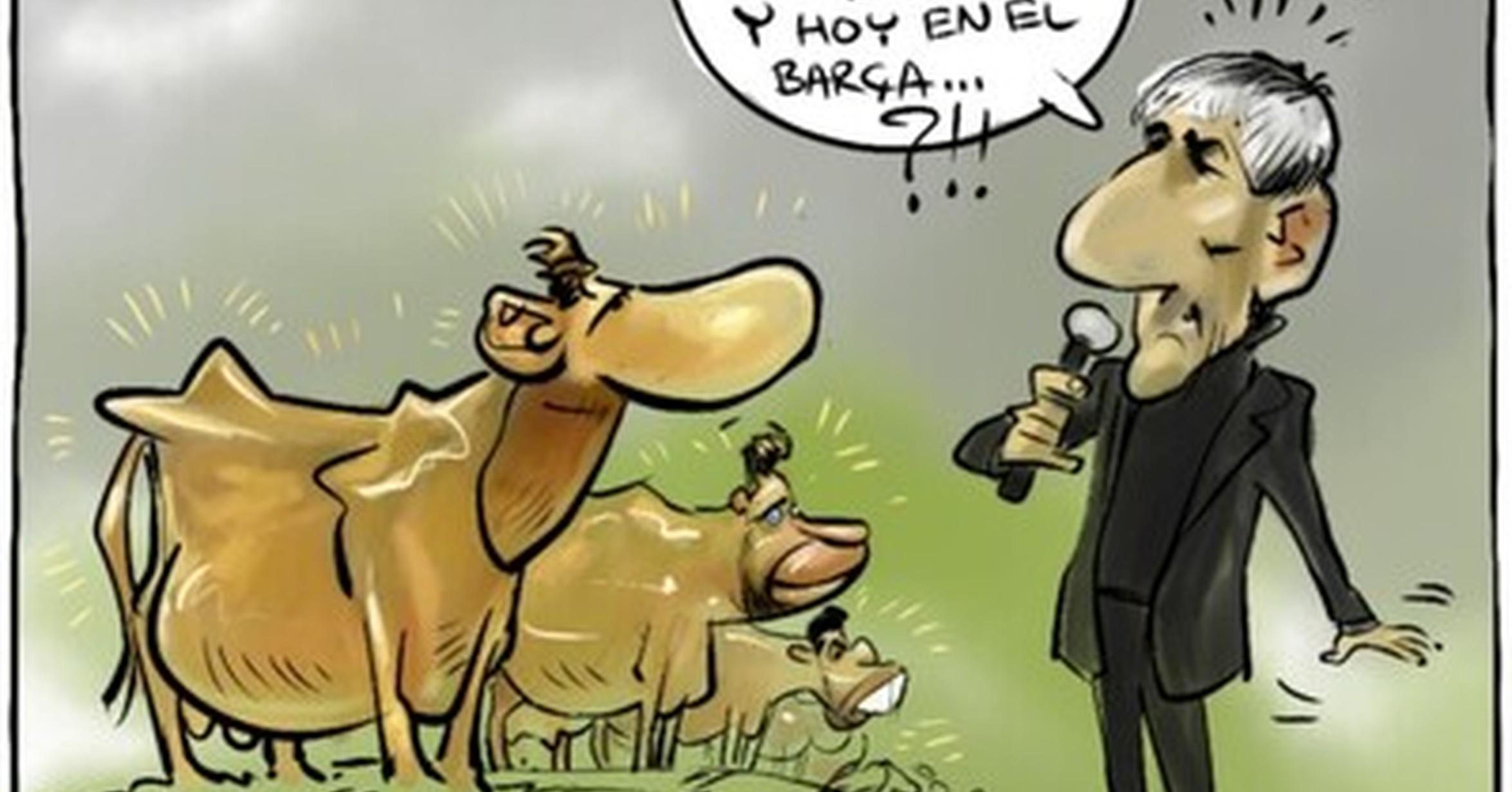 PRESENTACIÓN COMO ENTRENADOR DEL BARCELONAQuique Setién: «Ayer estaba paseando con las vacas en mi pueblo y hoy entrenando a los mejores» MMD_1095884_402fb6eca79a4b91a35f4037452b965c_futbol_en_el_barca_tambien_hay_vacas_pero_estas_son_sagradas_por_yesnocse_thumb_fb