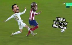 Enlace a La UEFA dejó fuera del 11 del año a Kanté pese a tener más votos para que entrara Ronaldo