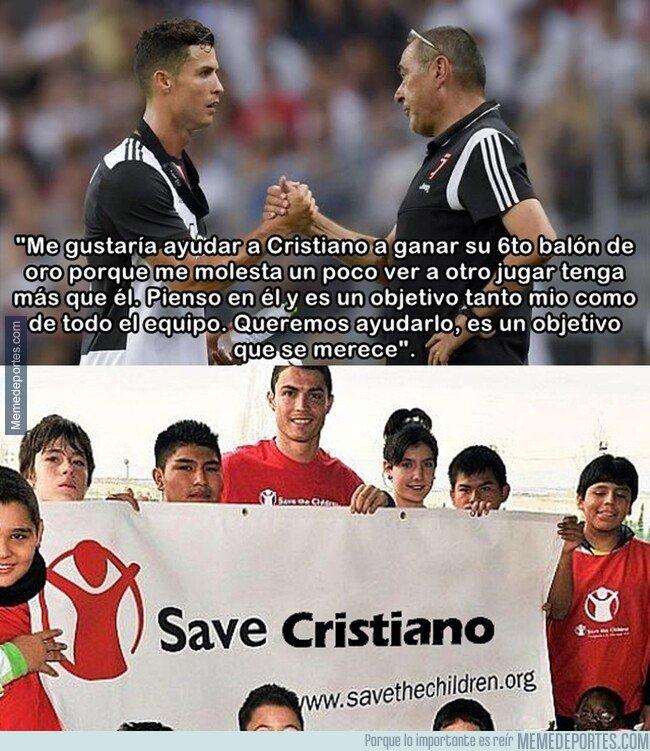 1095981 - Sarri reconoce que jugarán para Cristiano y su sexto balón de oro.