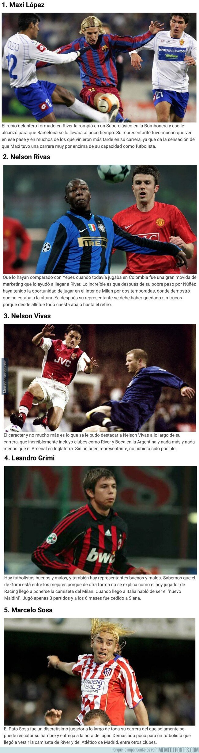 1095992 - Cinco jugadores sudamericanos que le deben su carrera a sus representantes
