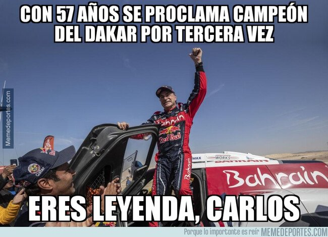 1096004 - Carlos Sainz, campeón del Dakar 2020