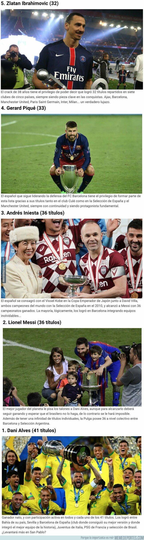 1096016 - Estos son los futbolistas activos con más títulos en la historia del fútbol