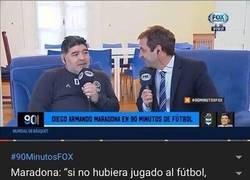 Enlace a Maradona se sincera ante las cámaras