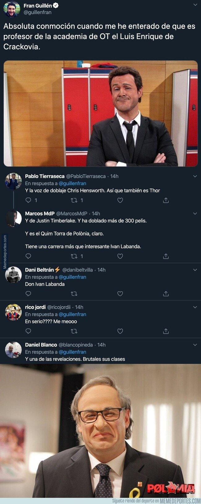 1096347 - Este es Ivan Labanda, el profesor de interpretación de 'Operación Triunfo' y vas a alucinar qué personajes hace en 'Crackovia' y 'Polonia' de TV3