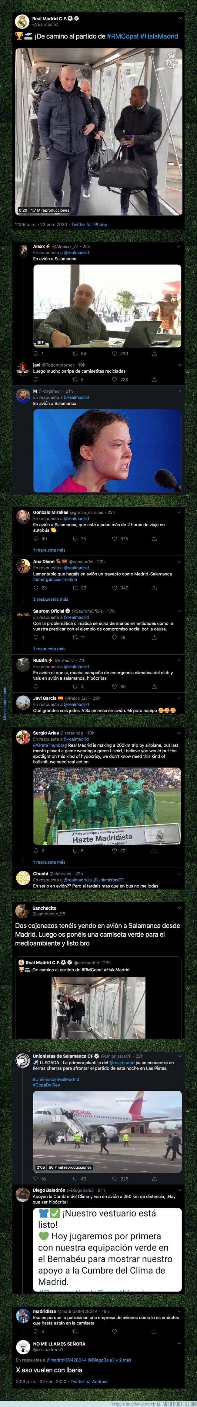 1096564 - Fuertes críticas por lo que el Real Madrid ha hecho para ir a Salamanca a jugar su partido de Copa del Rey
