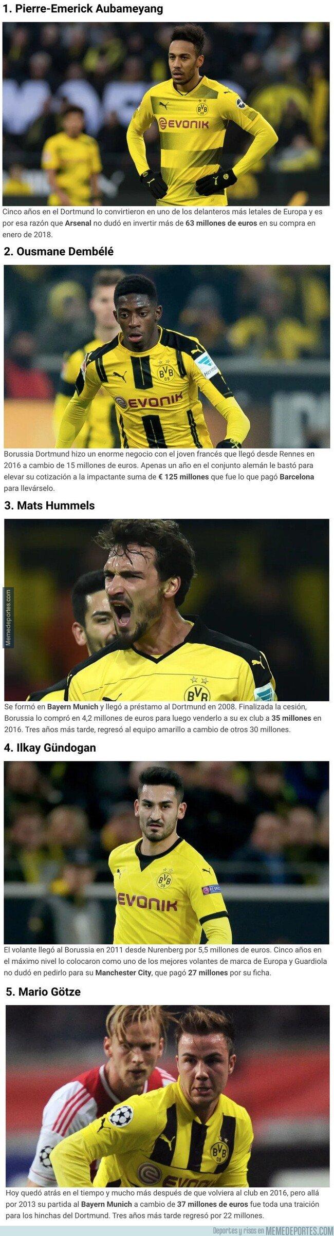 1096818 - Los mejores 5 jugadores que vendió el Borussia Dortmund en los últimos 10 años