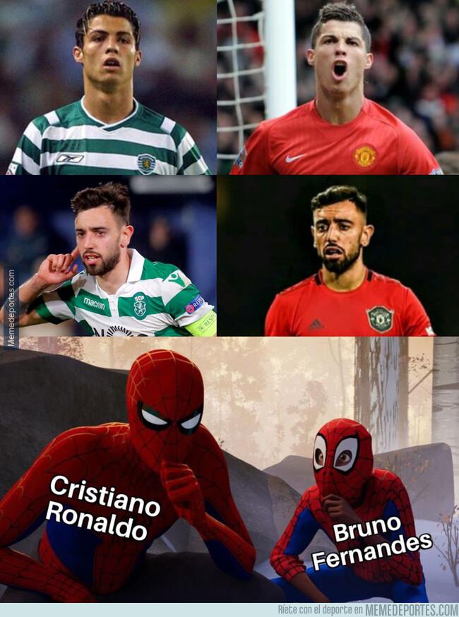 1097154 - Bruno Fernandes sigue los pasos de Cristiano Ronaldo