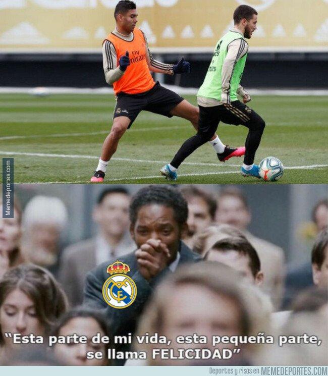 1097168 - Madridistas al ver que Hazard vuelve a entrenar con el grupo
