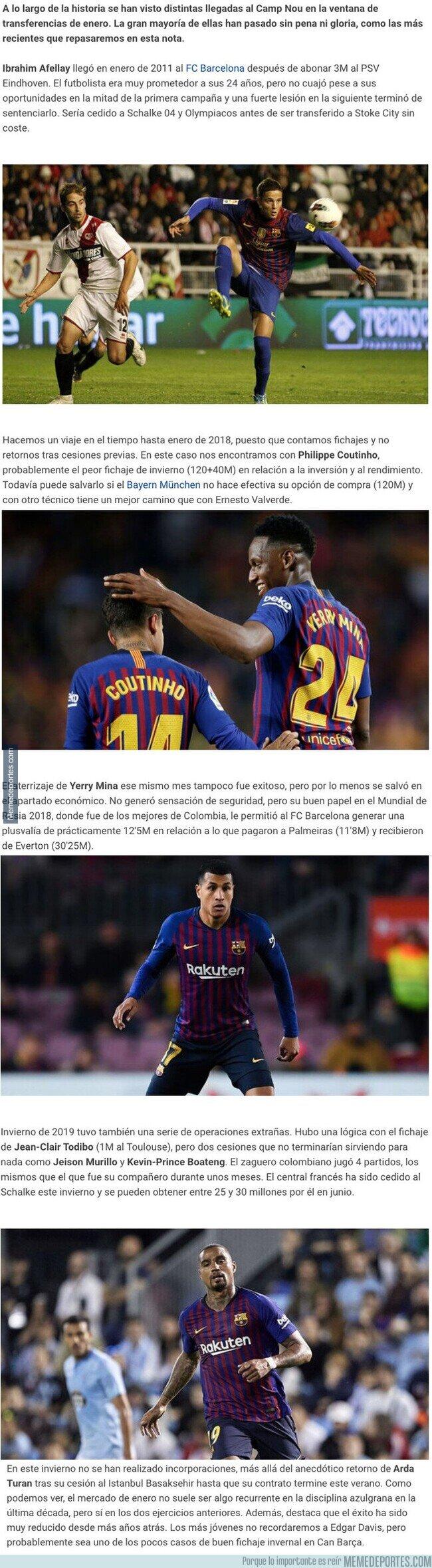 1097204 - Estos son los peores fichajes que realizó el FC Barcelona en el mercado invernal