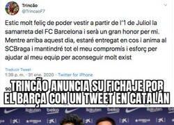 Enlace a Francisco Trincão pasará a ser Francesc Trincat