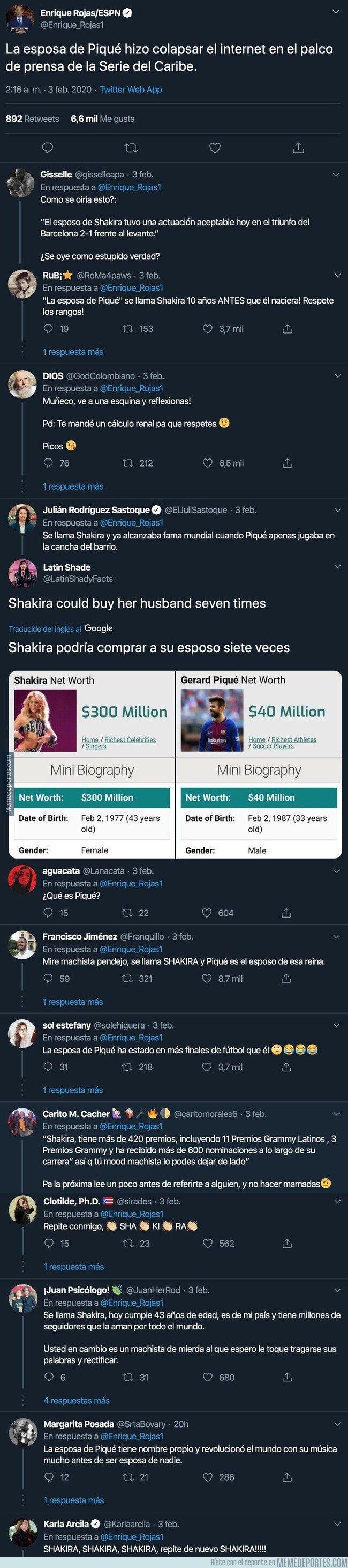 1097505 - Un periodista de ESPN llama a Shakira