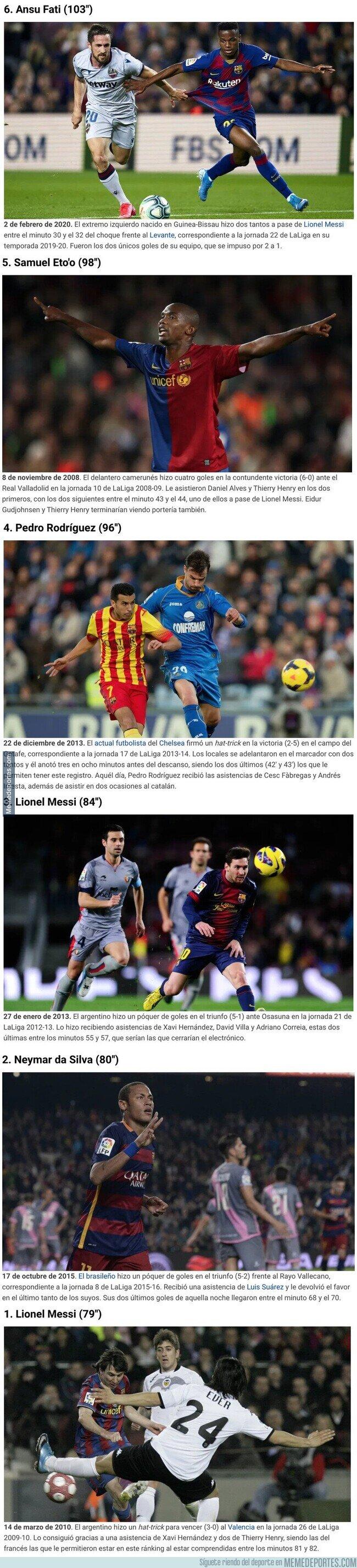 1097506 - Los 6 dobletes ligueros más rápidos del FC Barcelona en el siglo XXI