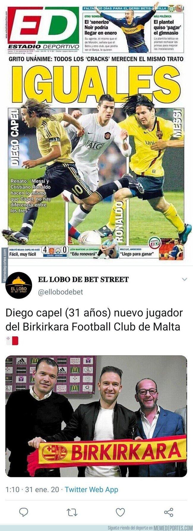 1097536 - ¿Recuerdas esta mítica portada en la que comparaban a Diego Capel con Messi y Cristiano? Pues ojo a esta novedad con la que te reirás
