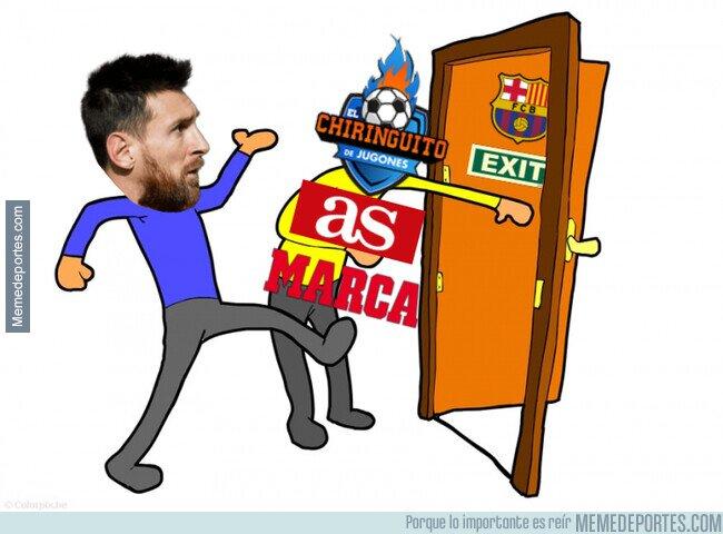 1097694 - La prensa de la capital aprovecha para empujar a Messi lejos del Barça