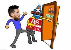Enlace a La prensa de la capital aprovecha para empujar a Messi lejos del Barça