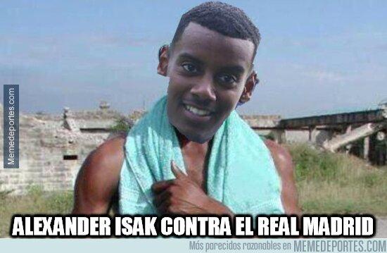 1097741 - Alexander Isak hizo doblete en el Bernabéu