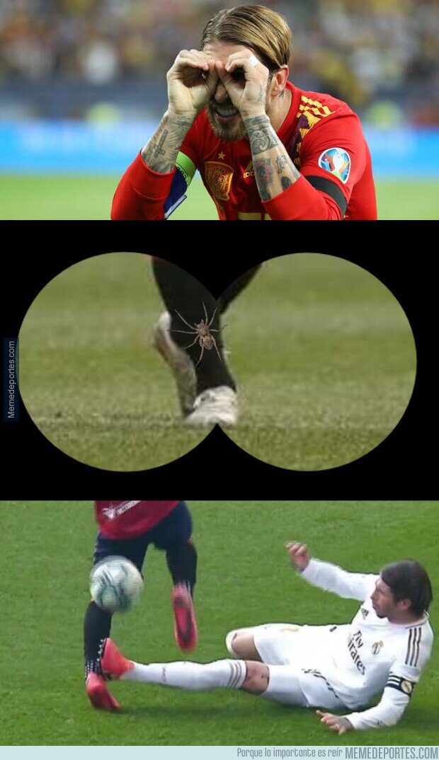 1098071 - Ramos solo quería ayudar al pobre jugador de Osasuna