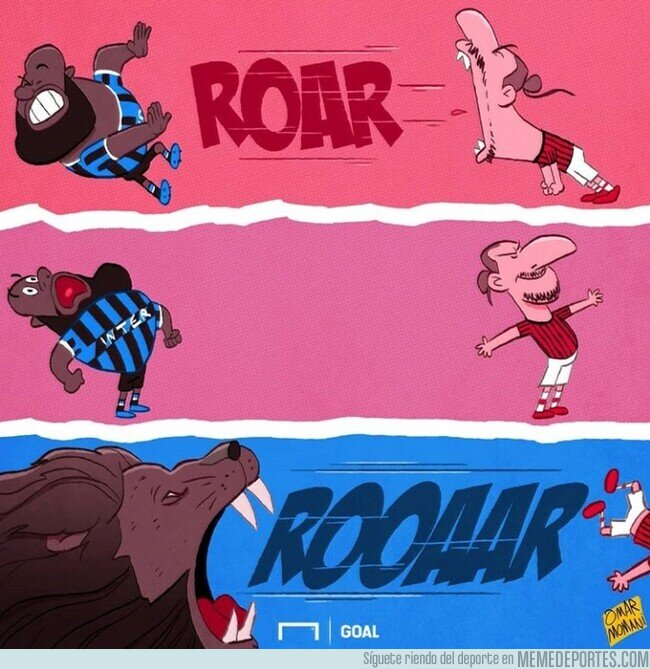 1098075 - El rugido de Lukaku fue más potente que el de Zlatan, por @goalglobal