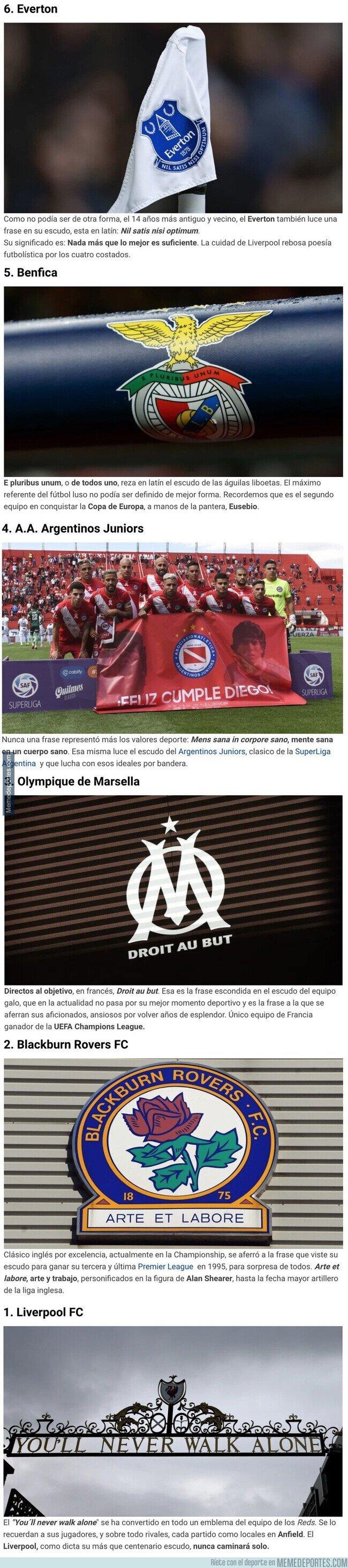 1098159 - 6 frases escondidas en escudos de equipos de fútbol