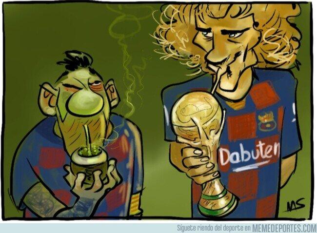 1098197 - Según France Football, en el Barça envidian a Griezmann por haber ganado el mundial, por @yesnocse