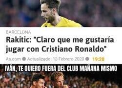Enlace a Messi despide a Rakitic