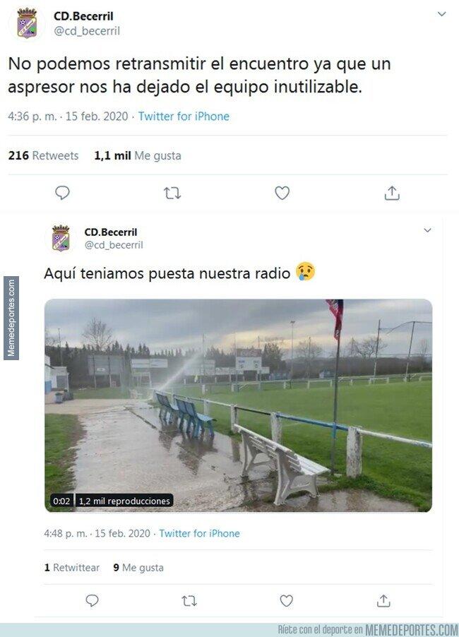 1098465 - El surrealista motivo por el que el CD Becerril no pudo retransmitir su partido de fútbol