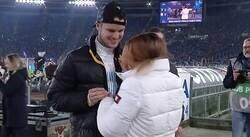Enlace a Il Amore: Un fanático de la Lazio acordó con los juveniles del equipo para pedir la mano de su novia