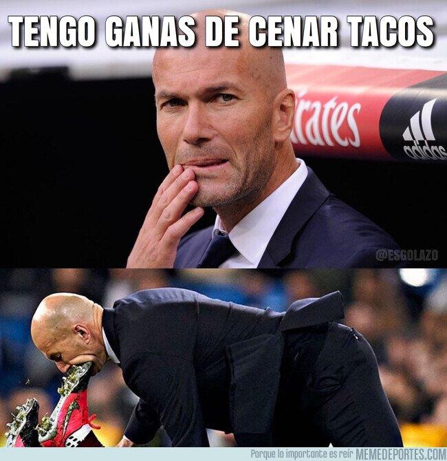 1098563 - A Zidane se le antojó unos tacos