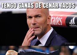 Enlace a A Zidane se le antojó unos tacos