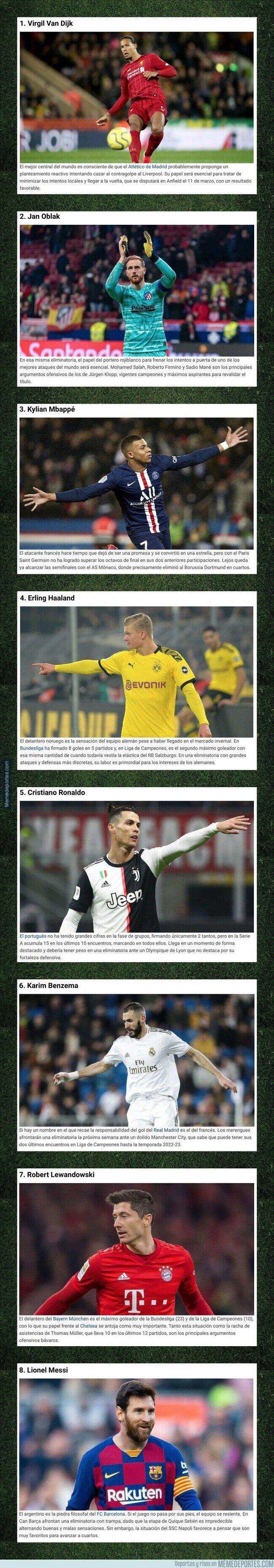 1098668 - 9 futbolistas que serán decisivos en los octavos de final de la Champions League