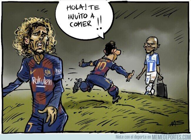 1098904 - ¿Le caerá mejor Braithwaite a Messi que Griezmann? Por @yesnocse