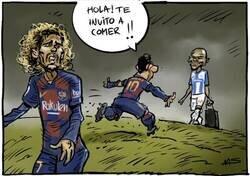 Enlace a ¿Le caerá mejor Braithwaite a Messi que Griezmann? Por @yesnocse