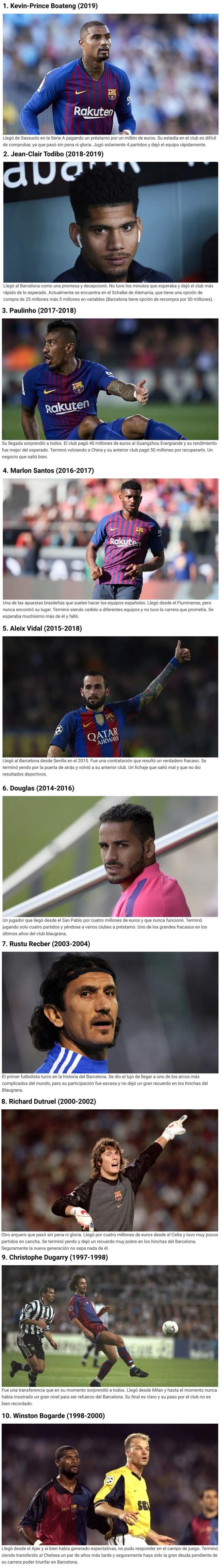1098907 - Los 10 fichajes más extraños del Barcelona en los últimos años