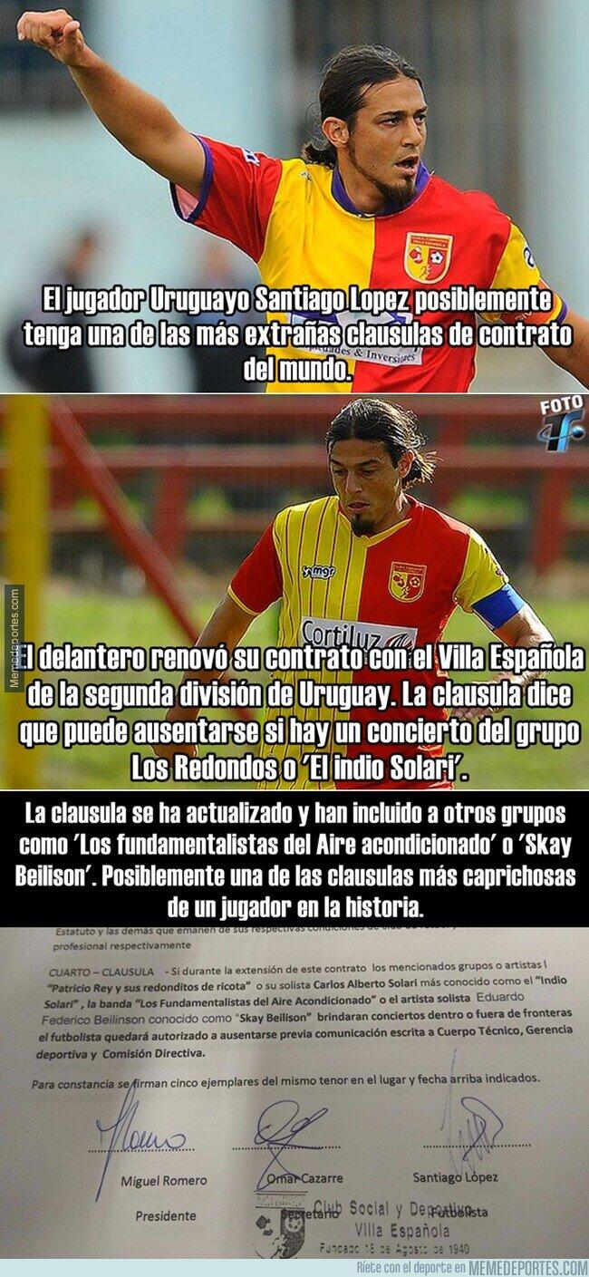 1099004 - La cláusula de este jugador en Uruguay que le permite ausentarse para irse a conciertos.