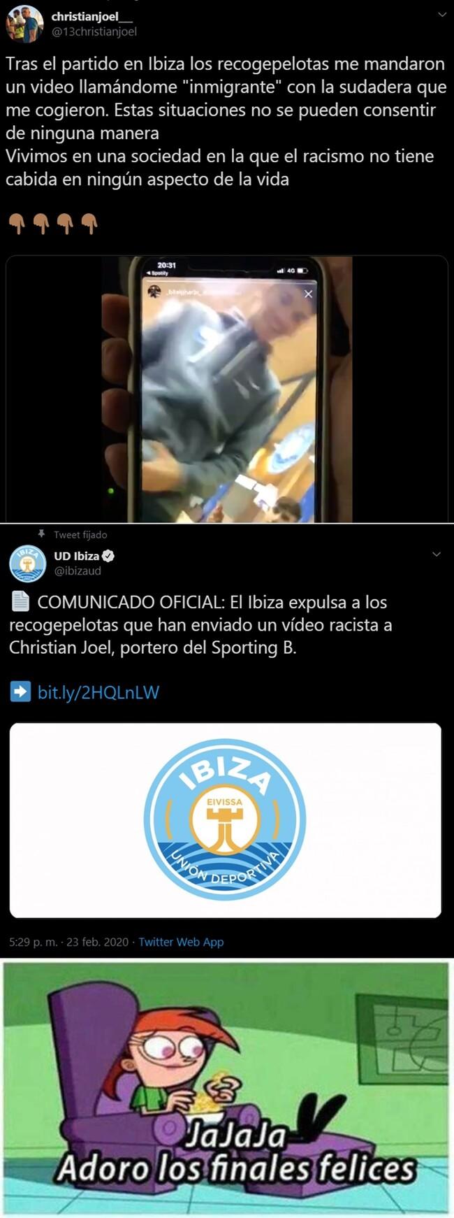 1099128 - Los recogepelotas del Ibiza se pusieron graciosetes con un vídeo racista y terminaron expulsados