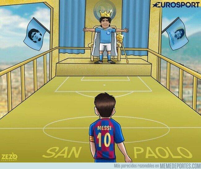 1099210 - Messi, en casa del Diego, por @zezocartoons