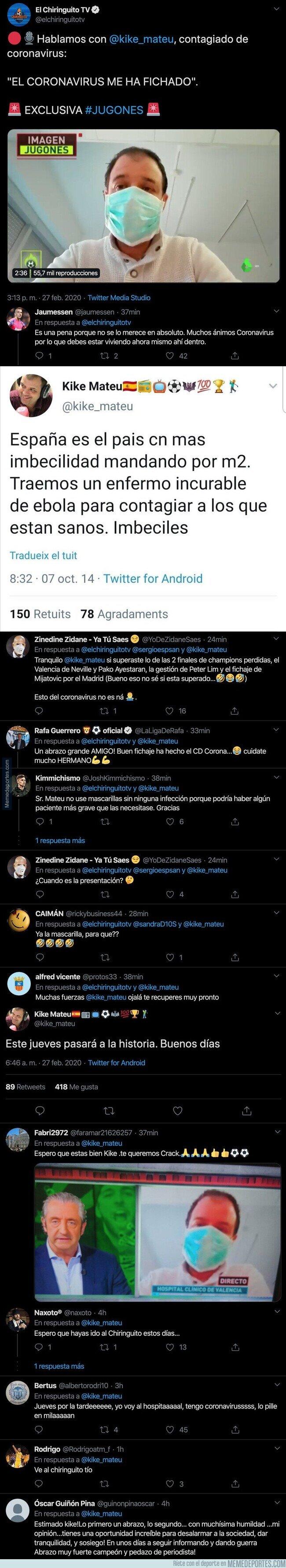 1099368 - Se descubre que un periodista de 'El Chiringuito' tiene el Coronavirus e internet está que echa humo mandándole mensajes