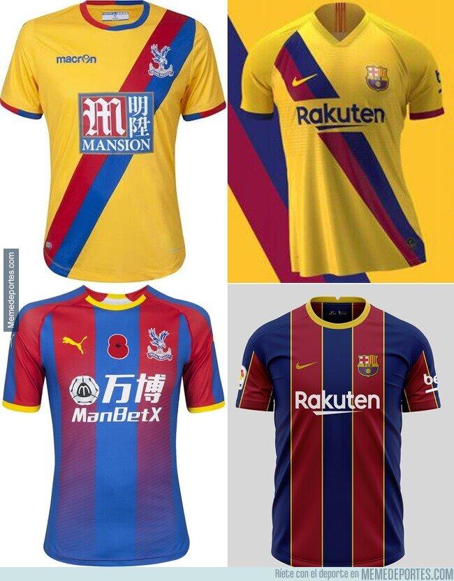 1099382 - ¿Alguien me quiere explicar por qué el Barça esta copiando los diseños del Crystal Palace?